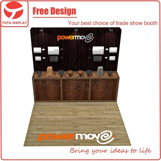 Yota custom Power move 10x10 booth,exhibition stand 3x3