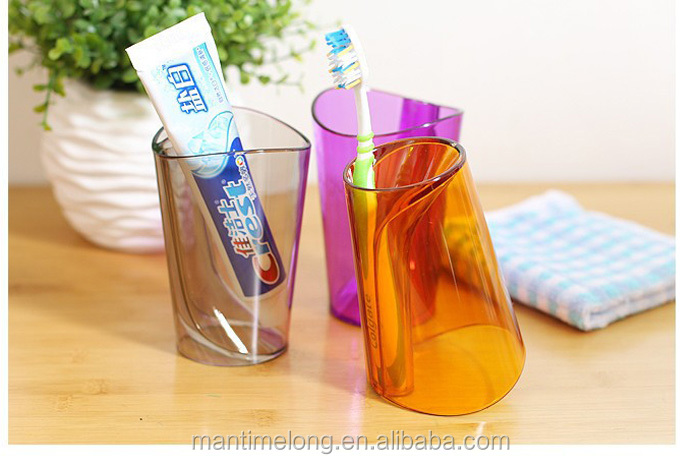 Waterproof New Lovers Multi-function 2 In 1 Toothbrush Holder Wash Gargle Cup Transparent Lovely Couples Gargle Cup