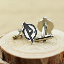 Free ship Fashion Men Movie Jewelry Luxury Novelty Cufflinks SuperHero Logo Avengers CL-34