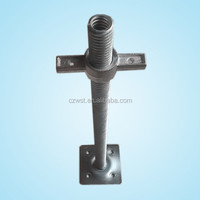 Scaffold base adjuster/adjustable steel prop scaffolding
