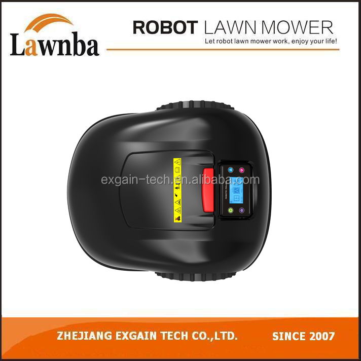 Automatic recharge wireless robotic lawn mowers E1600,with anti-theft function,Emergency Stop button