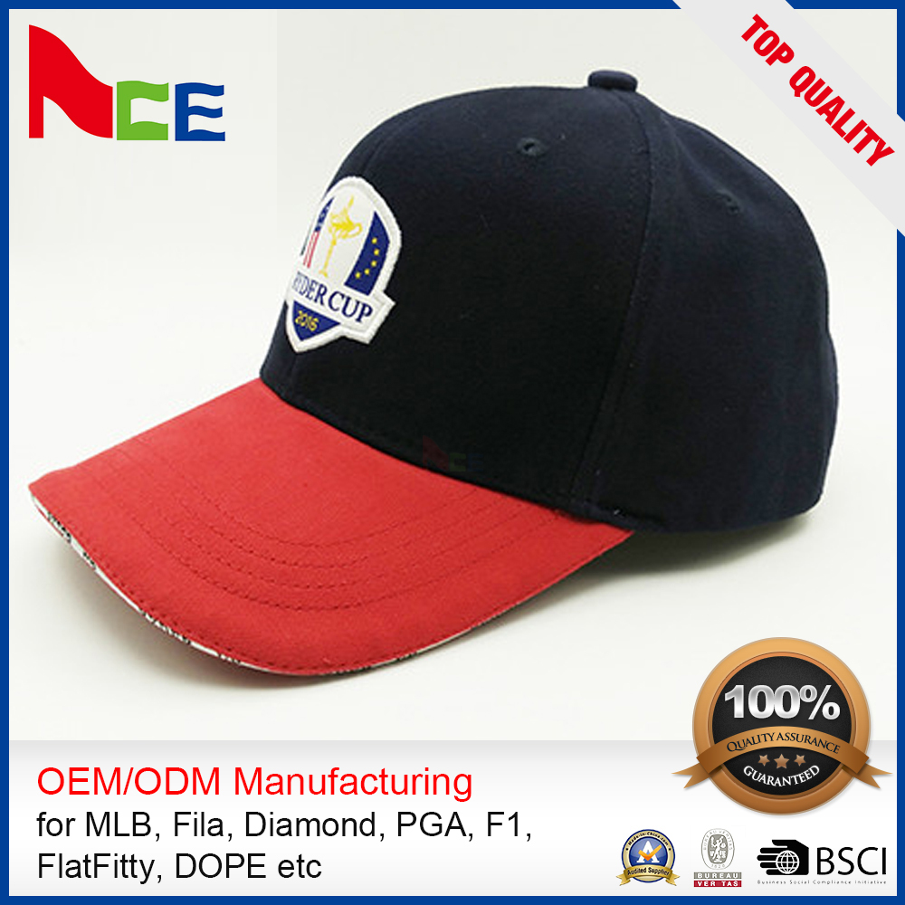 High Quality OEM ODM 6 panel baseball cap custom hats