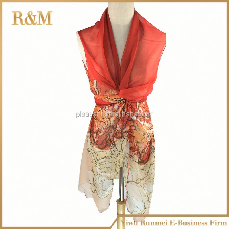 Colorful best-selling new retro scarf large beach shawl scarves