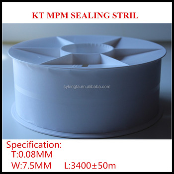 Plastic MPM sealing strip for Aseptic Brick-shape packing material