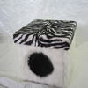 Zebra Pattern Faux Fur Pet Dogs House