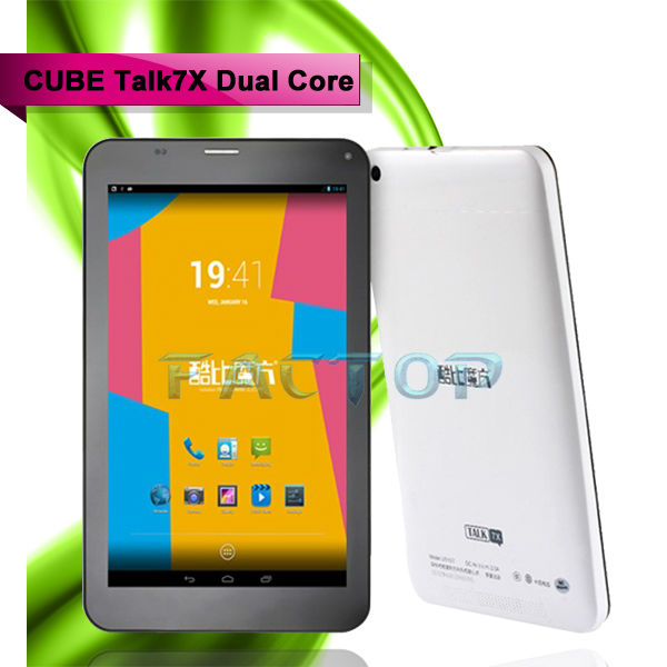 Famous brand tablet pc bluetooth GPS WIFI Cube talk 7x dual core tablet pc