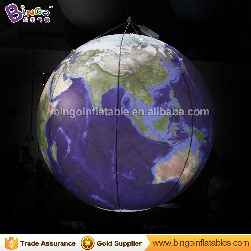 Giant earth ball, earth globe hanging inflatables model for stage decoration