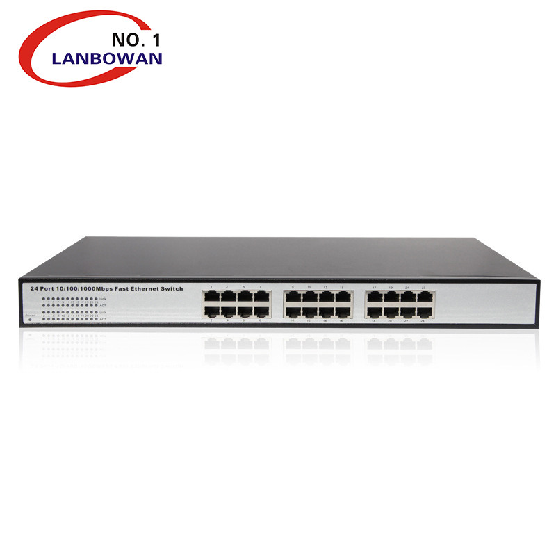 LANBOWAN 24 Port 10 100 1000 Gigabit 802.3 Network poe switch with RJ45 ports