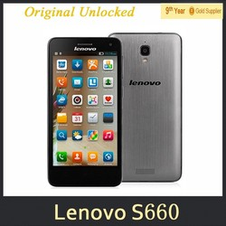 0510 Lenovo S660 Quad Core Smartphone 1G RAM 8G ROM 4.7Inch IPS QHD Screen 8.0MP Camera Android4.2 MTK6582 3G Phones