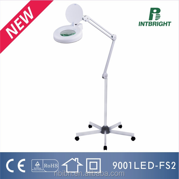 3/5/8 diopter 5 foot floor stand magnifier lamp portable magnifying glass led beauty lighting LED Illuminated Magnifiers
