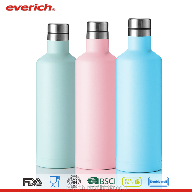 500ml hot selling 18/8 stainless steel thermal insulated wholesale wine bottles