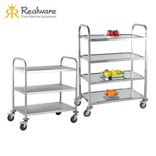 Stainless steel equipments kitchen serving trolley cart for sale