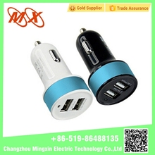 2017 New Arrival Phone Tablet dual usb car charger with 12v socket