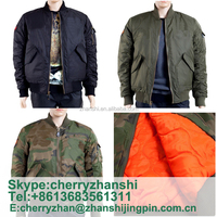 UK Winter Quilted Nylon Designer Men's Bomber Jackets