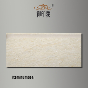 Wholesale Nonslip Beige Polished Glazed Beige Marble Tread Step Flooring Tiles