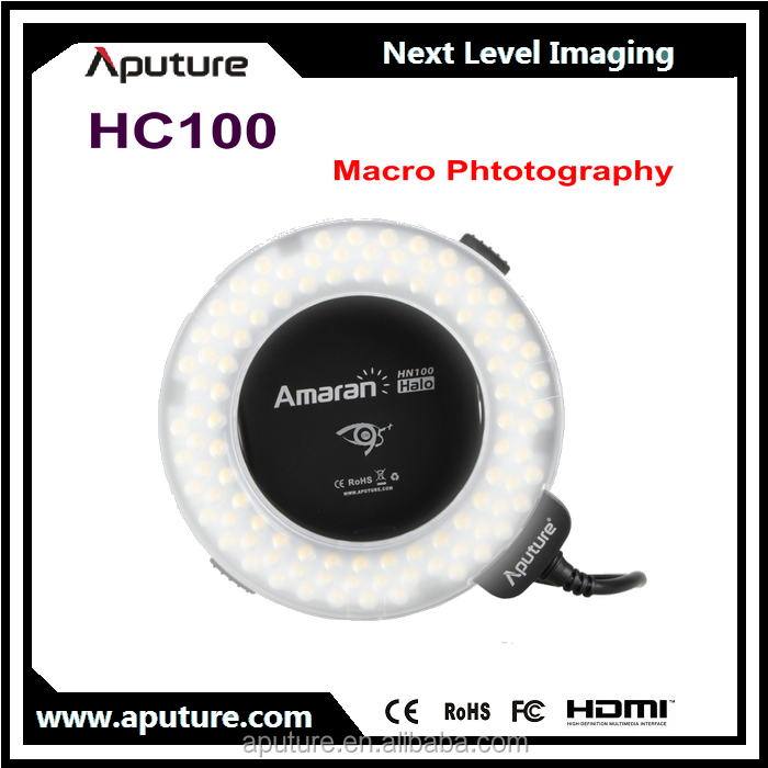 Aputure Halo HC100 Flash LED Ring light for Canon 1DX 5D Mark III 5D Mark II 6D 7D 70D 60D 60Da 700D 600D 100D 11