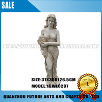 Sexy Girl Figure White Resin Statue