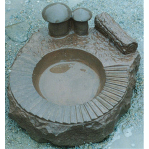 Garden Decoration Landscape Natural Granite Stone Bird Bath Bowl G12