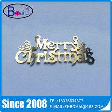 2015 Hot Sale Gold Etched Small Metal Letters For Crafts