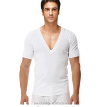 New T-shirts Product Men's Comfortable Cotton V Neck Short Sleeve Undershirts