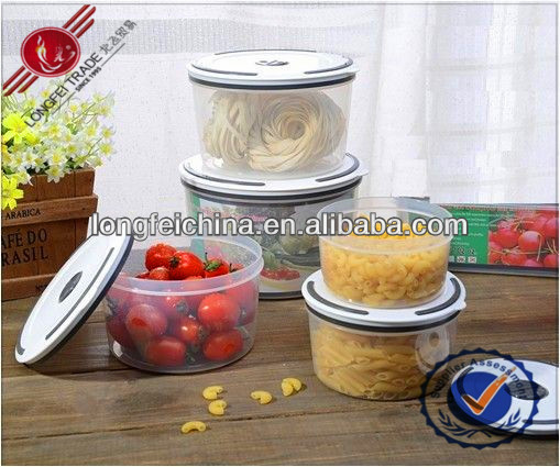 5 Pcs Set Plastic Cylinder Food Container