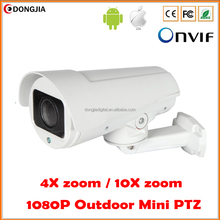 Mini IP PTZ Camera 4X 10X Zoom Lens 1080P Full HD P2P Onvif 40m Infrared Night Vision ONVIF 2.4 Bullet 2MP Outdoor PTZ Camera