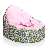Chirpy Pink Baby Seat , bird style baby beanbag