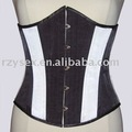 White & Black satin Underbust Corset