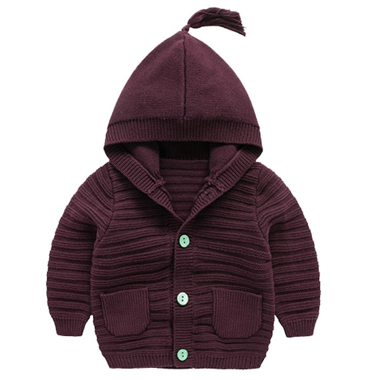 2016 fashiong cotton knitted boy sweater kids coat with hood