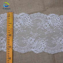 Light Aqua Floral Stretch Lace Trim Bridal headband Lace Nylon Lace Border for Decoration
