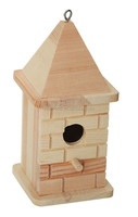 wooden small bird house desktop wooden craft decoration