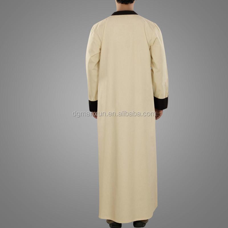 New Style Islamic Muslim Men  Daffah Thobe Simple Style Arabic Thobe (4).jpg