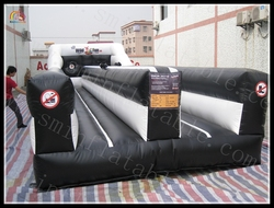 cheap inflatable bungee run, indoor entertainment bungee equipment, inflatable bungee sports games
