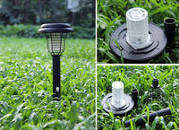 2015 Solar Battery Mosquito killer lamp saving power Natural Pest control
