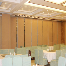 Customized hotell soundproof acoustic room dividers with ceiling track