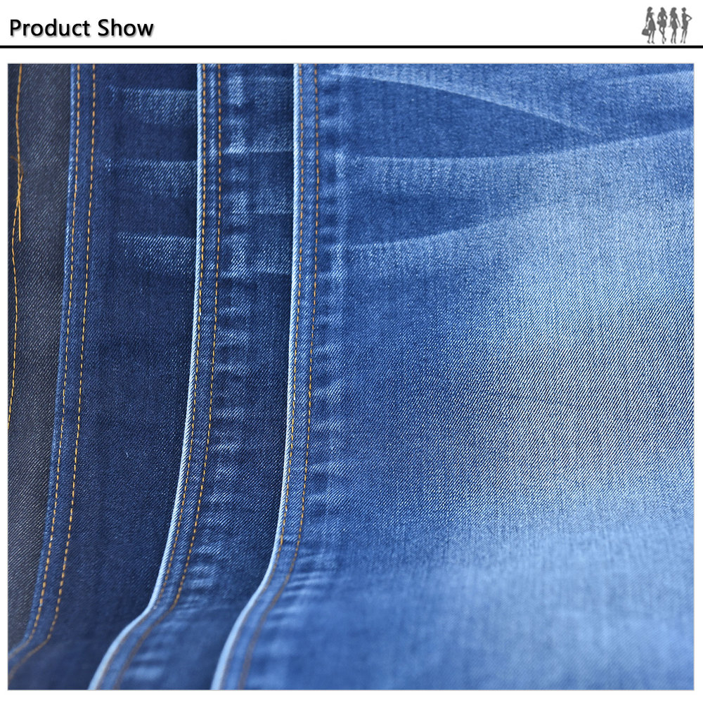 Make-to-Order cotton polyester viscose spandex denim fabric