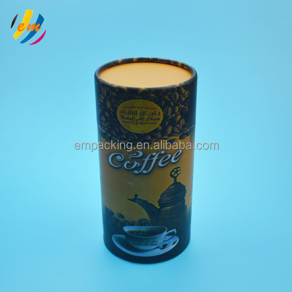 food use paper cylinder coffee packaging