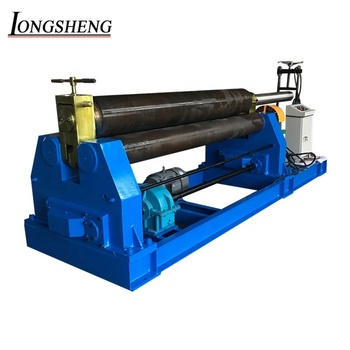 W11 series 16X2500 manual 3 roll plate rolling bending machine cone bending machine