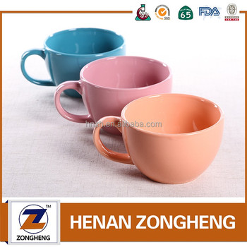 16oz soup cups pink ceramic coffee mugs