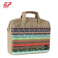 Custom Business Messenger Cotton Canvas Waterproof Laptop Bag For Macbook Air 13 inch
