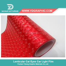 Starwrap High Flexible Red 3D Lenticular Car Light Film Deco Sticker