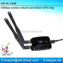 Factory 150Mbps Ralink rl3070 usb 2.0 wireless network adapter