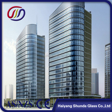 Beijing Haiyangshunda 12mm Tempered/Toughened Laminated Glass for Curtain Wall with Ceramic Fritted