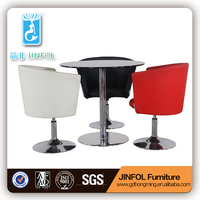 CT173+CY160 glass dinning table round table modern dining table set