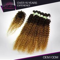 Charming 100% Full Cuticle Light Brown Curly Weave Extensions