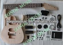 SNGK042 Unfinished ST/TL/SG/LP/PRE Style Guitar Kit, 7 String Guitar Kit