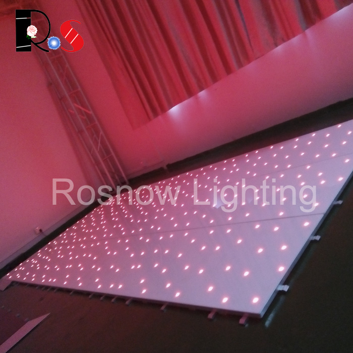 2016 NEW slim led dance floor for wedding party events RGB colorful stage lighting equipment