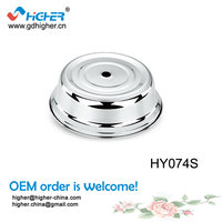 guangzhou wholesale stainless steel outdoor Food plate Cover with hole