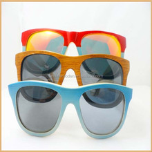 hot selling wood sunglassess100% Recyclable Bamboo made polarized colorful bamboo sunglasses natural bamboo eyewear