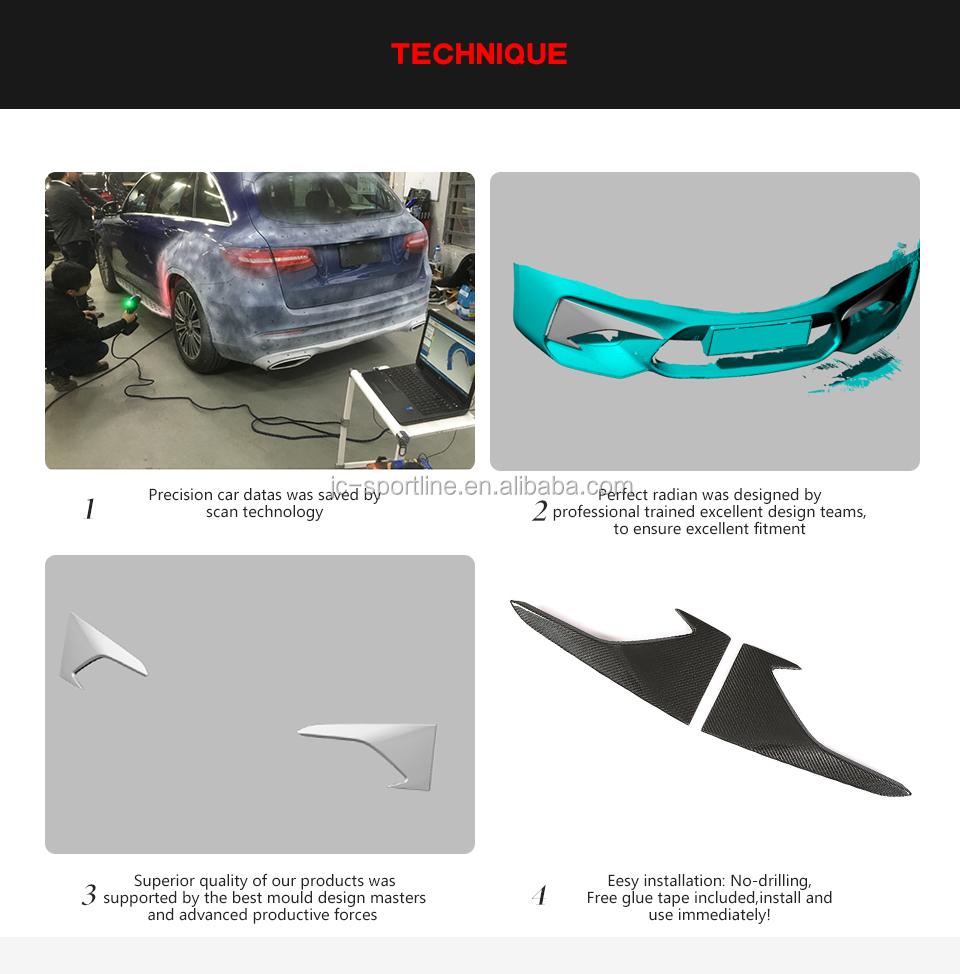 Dry Carbon Fiber F87 Front Bumper Vents Trim Cover for BMW M2 2016-2018